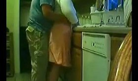 A sexy slut gets her tight pussy licked in the kitchen