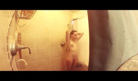 Heavily edited spy cam video with a naked teen
