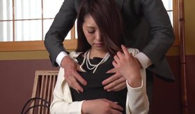 Lustful asian dude is molesting young girl with his horny fingers