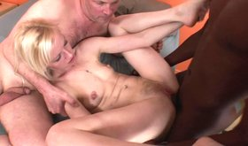 Lustful risky couple invites black dude into nasty threesome
