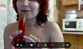 Red-haired skank having true fun during steamy affair