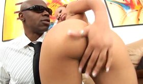 Ebony busty lady requires a big fat black cock